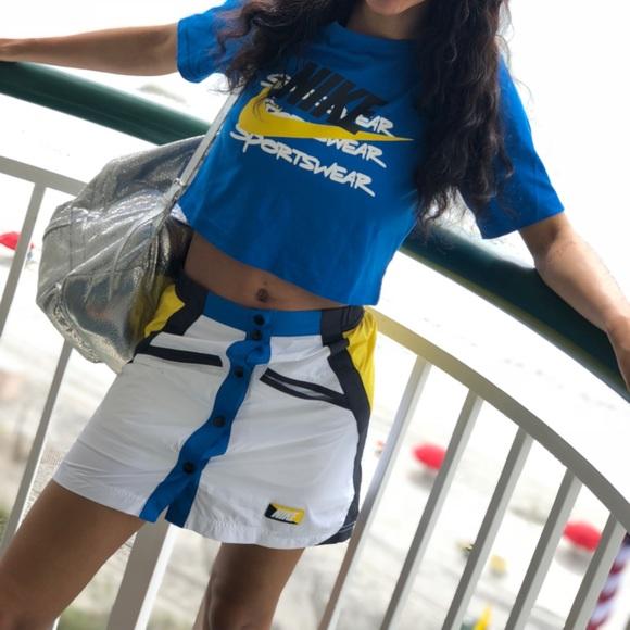 61da67f72 Nike Skirts | Two Piece Set Windbreaker Skirt Crop Top | Poshmark